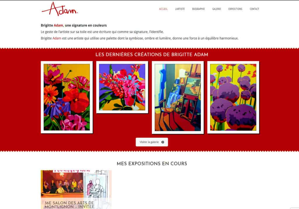 brigitte adam artiste peintre
