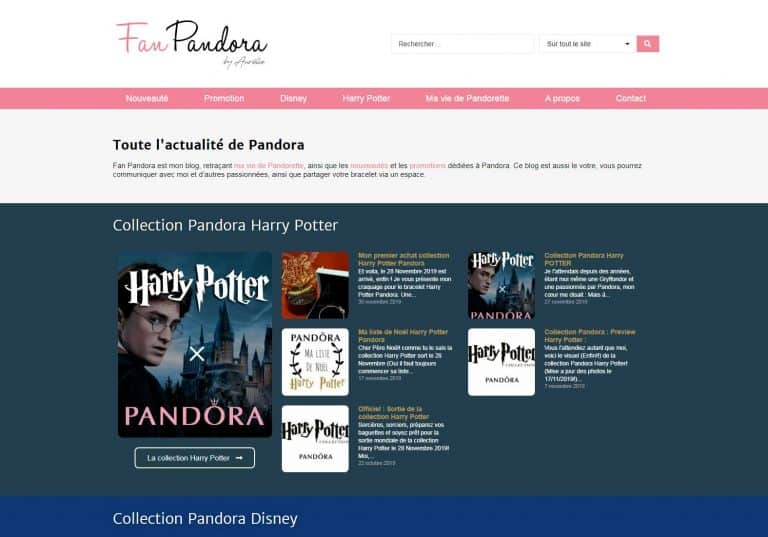 Fan Pandora Accueil